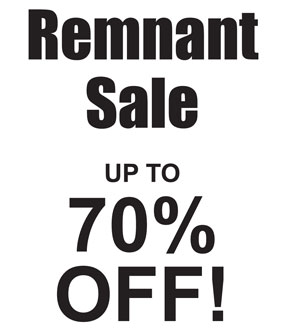 CURTAIN REMNANT SALE LEICESTER