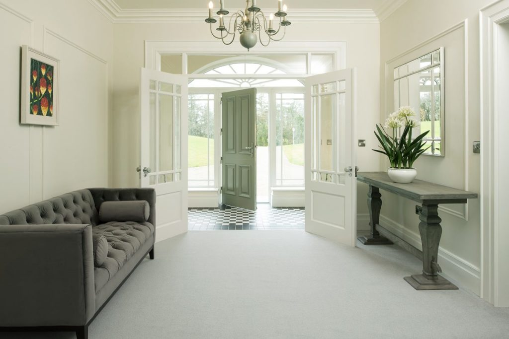 Ulster-Grange-Wilton-Celadon-plain carpet leicester